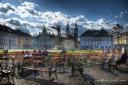 most beautiful squares in Timisoara  inside and outside the city walls