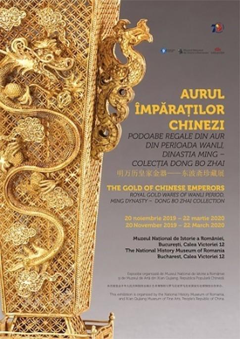 Aurul împăraților chinezi. Podoabe regale din perioada Wanli, dinastia Ming – Colecția Dong Bo Zhai, la MNIR