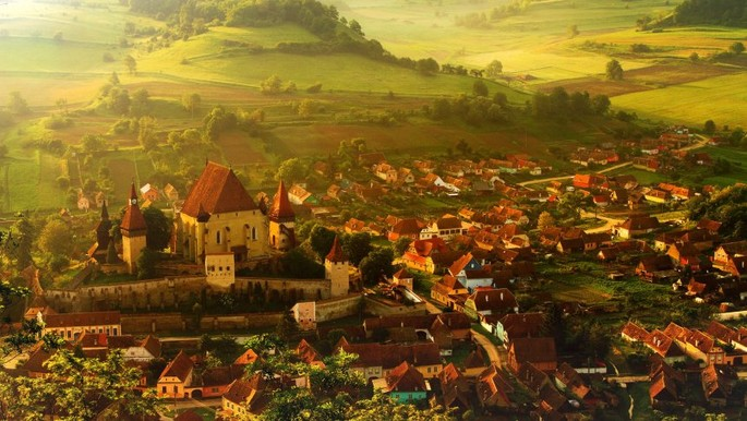 The Biertan fortress in Transylvania, part of the UNESCO Heritage Sites