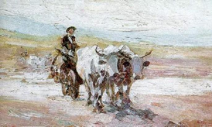 Nicolae Grigorescu: Car cu boi - The Oxcart