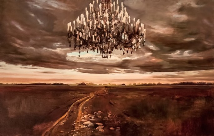 Landscape with chandelier - Gheorghe Fikl