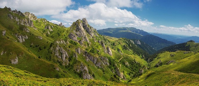 Cycle tourism in Romania - Ciucaș Massif, Carpathian Mountains