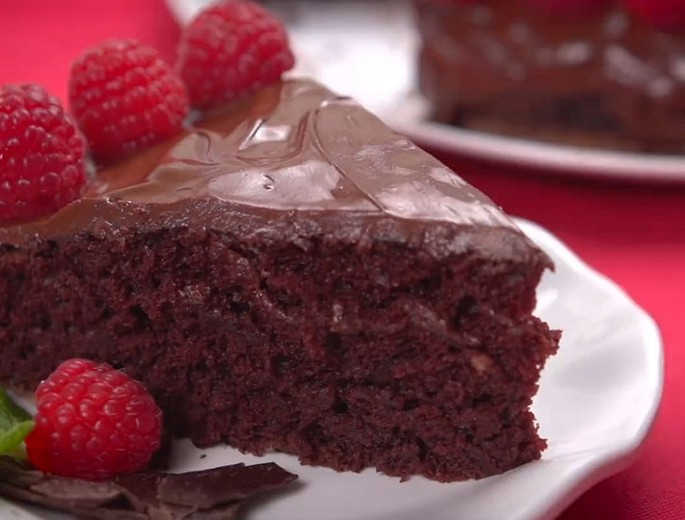 Brownies with plum jam
