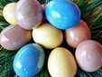 Naturally dyed eggs for Easter