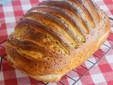 Pulpă de porc coaptă în pâine