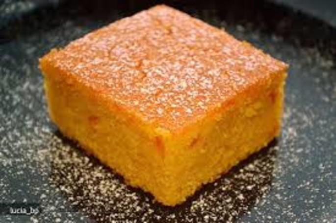 La torta dolce di farina di mais